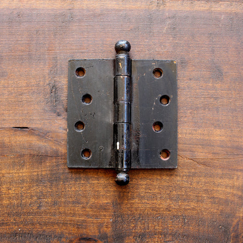 "Salvage Industrial Black 4"" Hinge - Made in Detroit"
