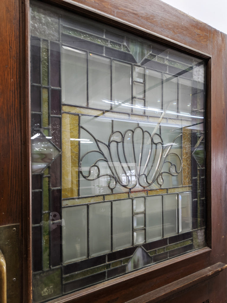 Salvaged Stained Glass Door - Made in Detroit