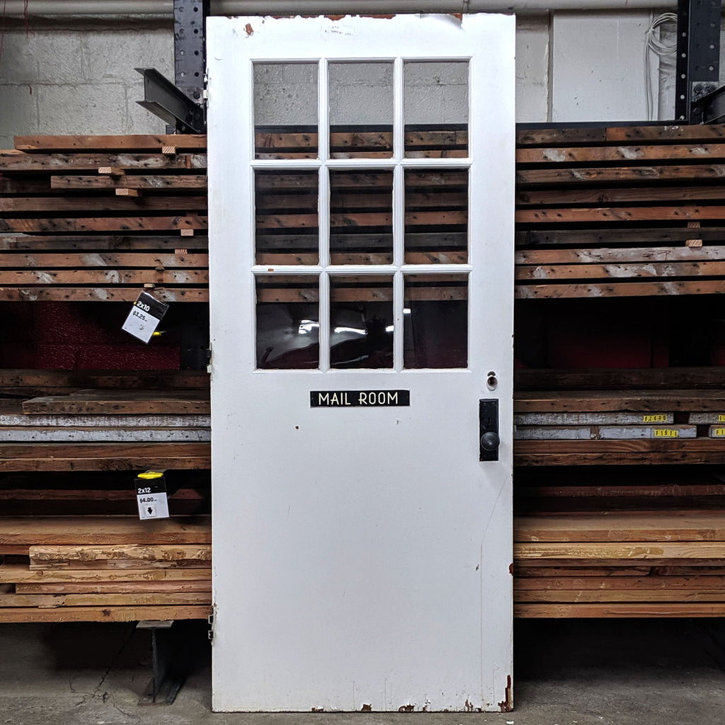 Salvaged Mail Room Door - Made in Detroit