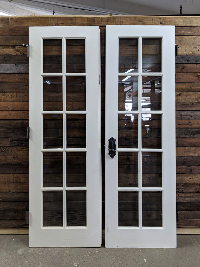 Salvaged French Doors - Pair - Made in Detroit