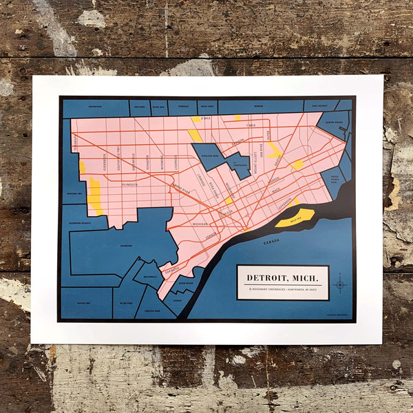 Detroit Map - Made in Detroit