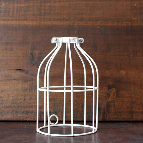 White Lamp Cage - Made in Detroit
