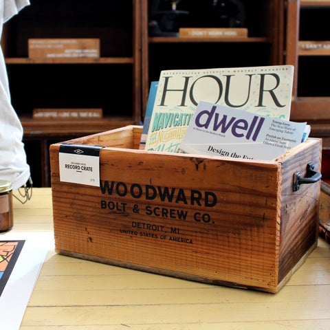 Woodward Bolt & Screw Record Crate - Made in Detroit