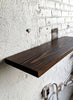 Perfect Brown Reclaimed Wood Shelf - Made in Detroit