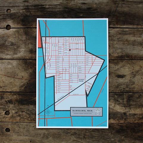 Hamtramck Map - Made in Detroit