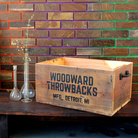 Woodward Throwbacks Record Crate - Made in Detroit