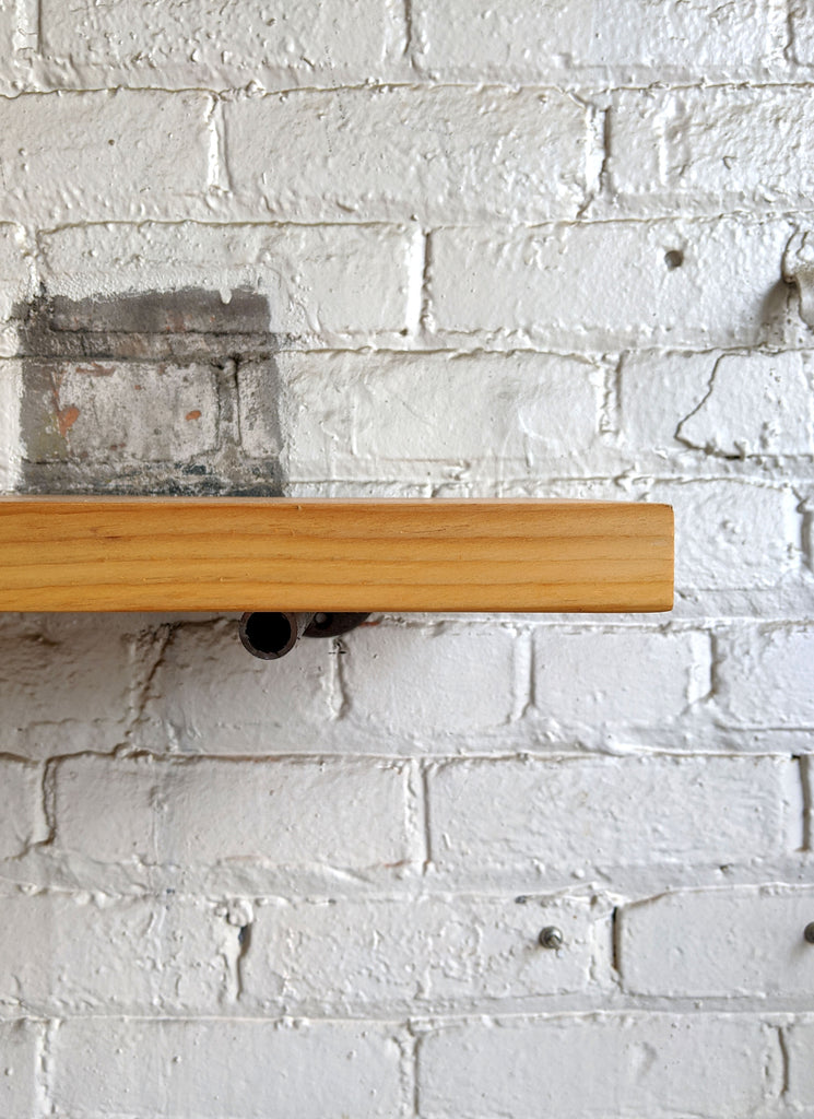 Natural Reclaimed Wood Shelf - Made in Detroit