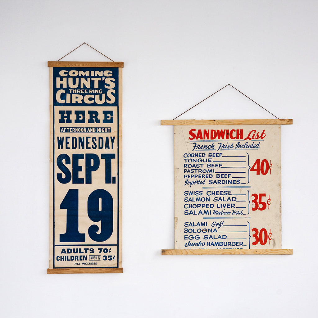 Reclaimed Wood Poster Hanger - Made in Detroit