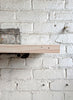 White Wash Reclaimed Wood Shelf - Made in Detroit
