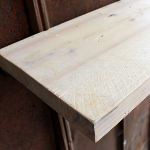 White Wash Reclaimed Wood Shelves - Made in Detroit