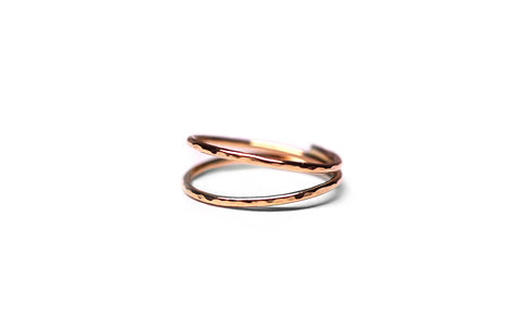 Rose Gold double ring