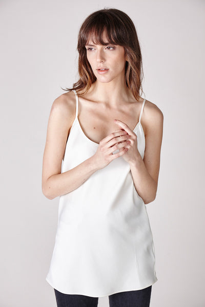 The Sadie Camisole - White - The Minimalist Directory - 3