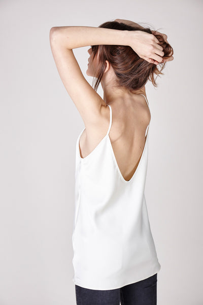The Sadie Camisole - White - The Minimalist Directory - 1
