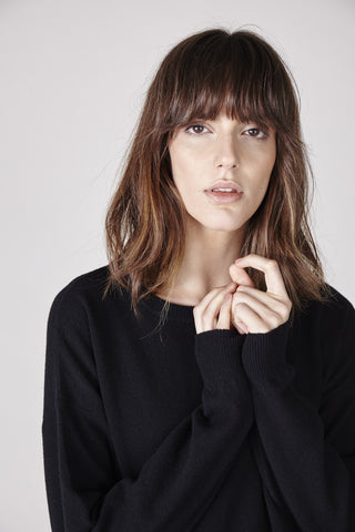 Sienna Cashmere Sweater - Black