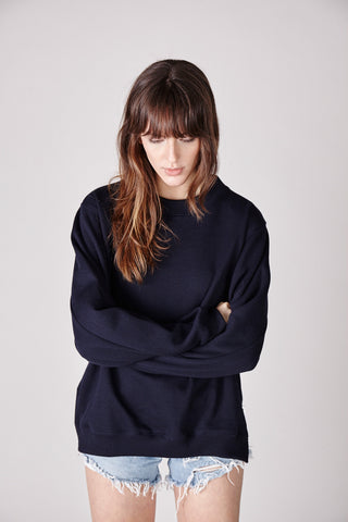 The Suki Sweater - Navy - The Minimalist Directory - 1