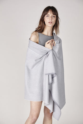 Liv Cashmere Scarf - Light Gray