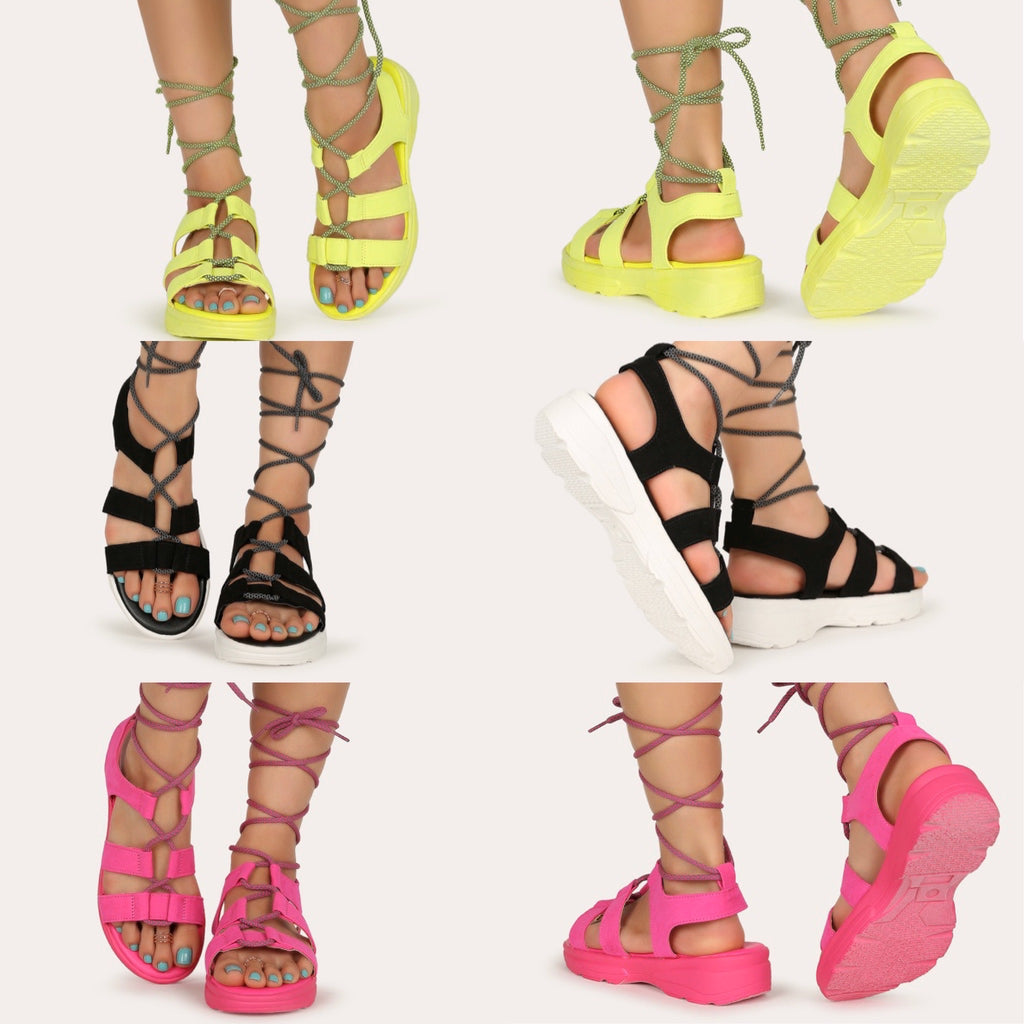 Lace Up Sneaker Sandal