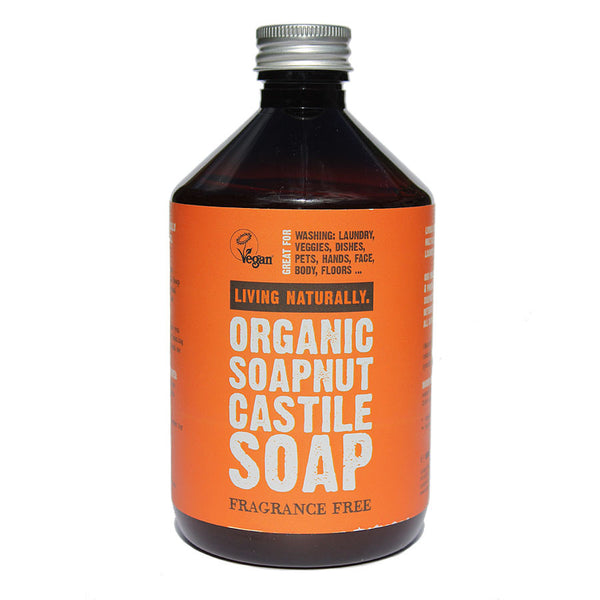 Living Naturally Organic Soapnut Castile Soap 500mls