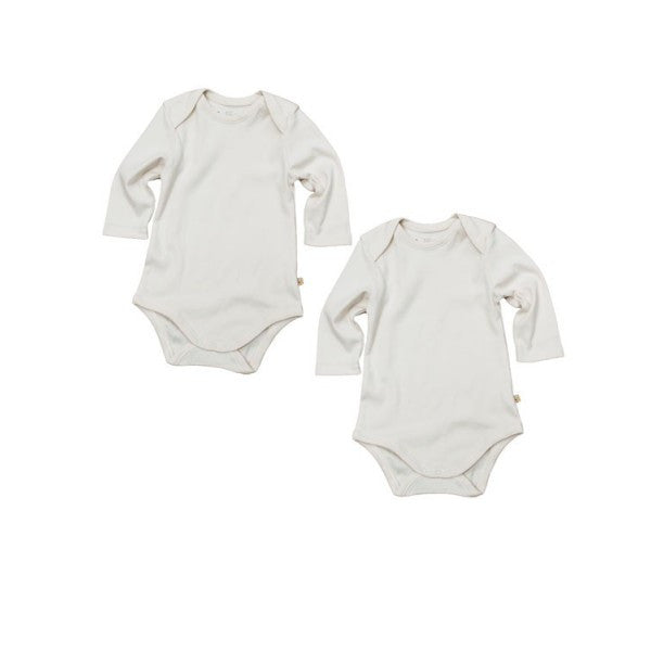 Frugi Organic Long Sleeved Vests/Bodies - 2 Pack
