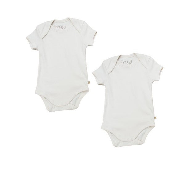 Frugi Organic Short Sleeved Vests/Bodies - 2 Pack