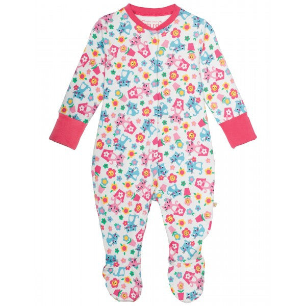 Frugi Organic Cotton Babygrow - Cat Friends