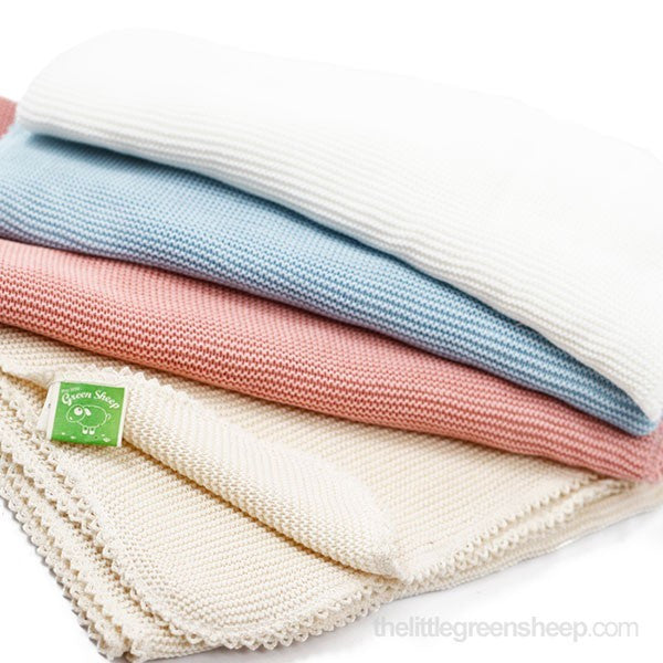 Organic Cellular Baby Blanket - Eco White