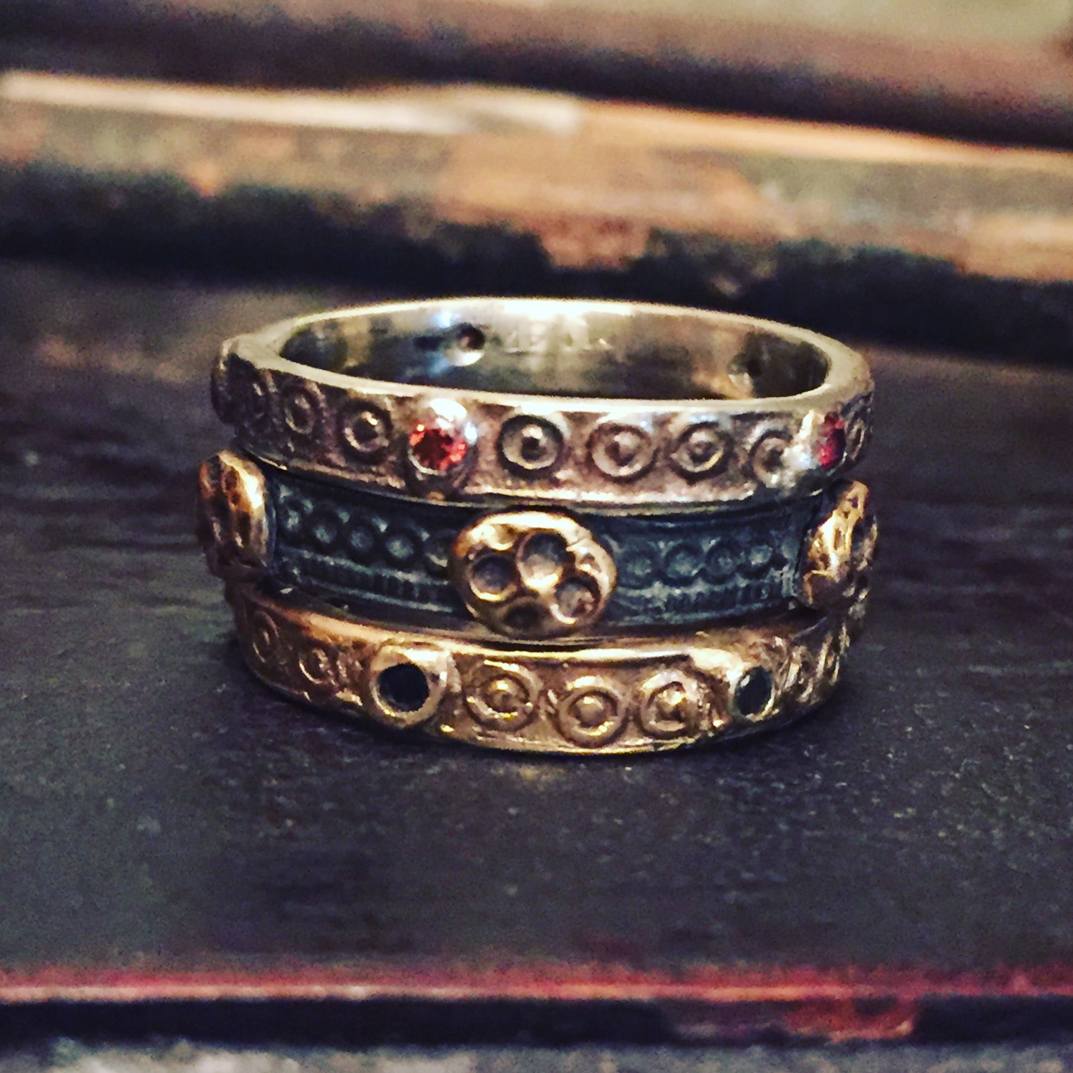 Blackened Gold Throne Ring