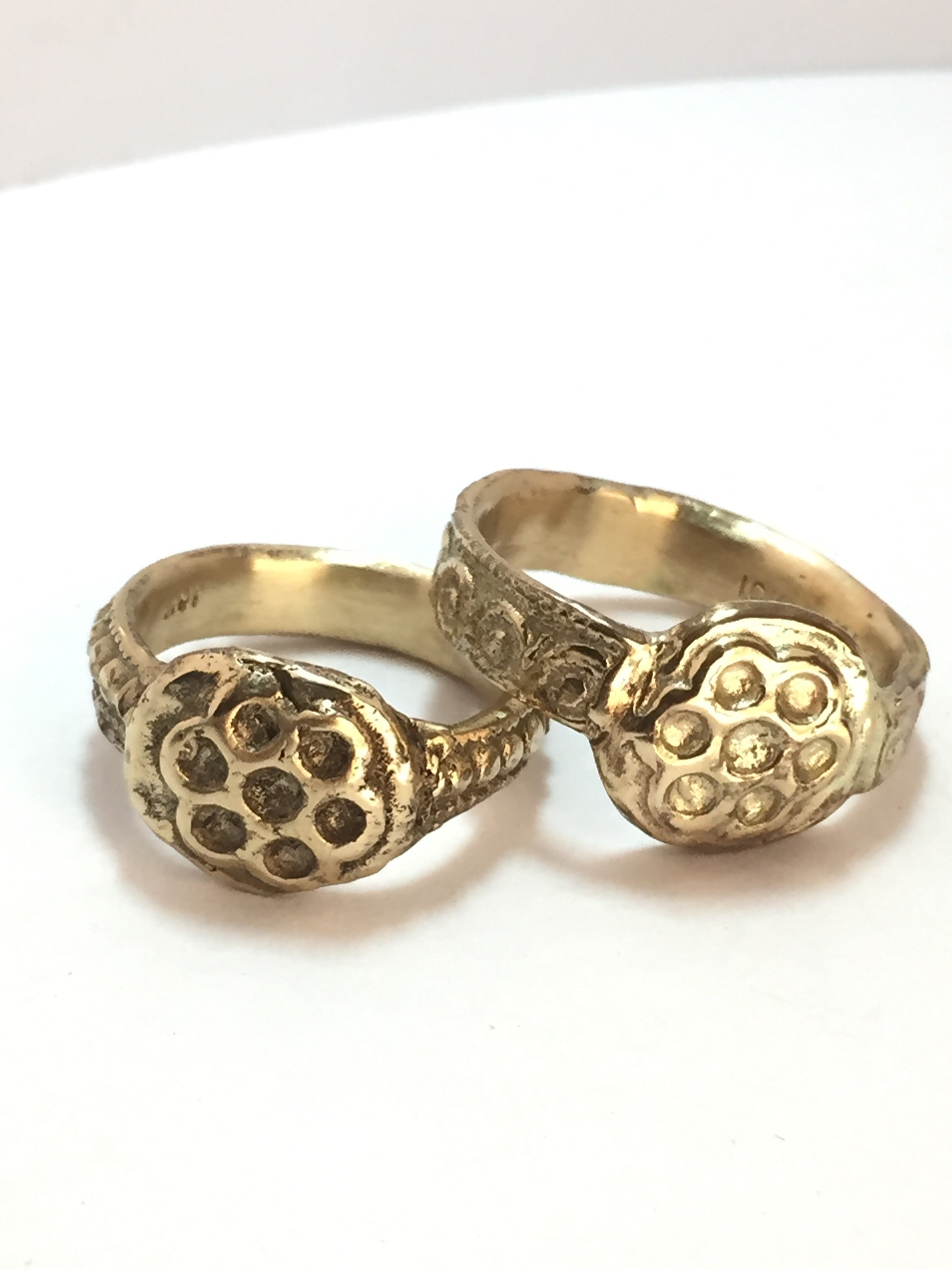Cigar band Ring 10k yellow gold