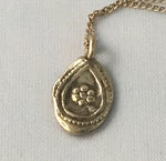 14k recycled gold Little Drop Amulet necklace