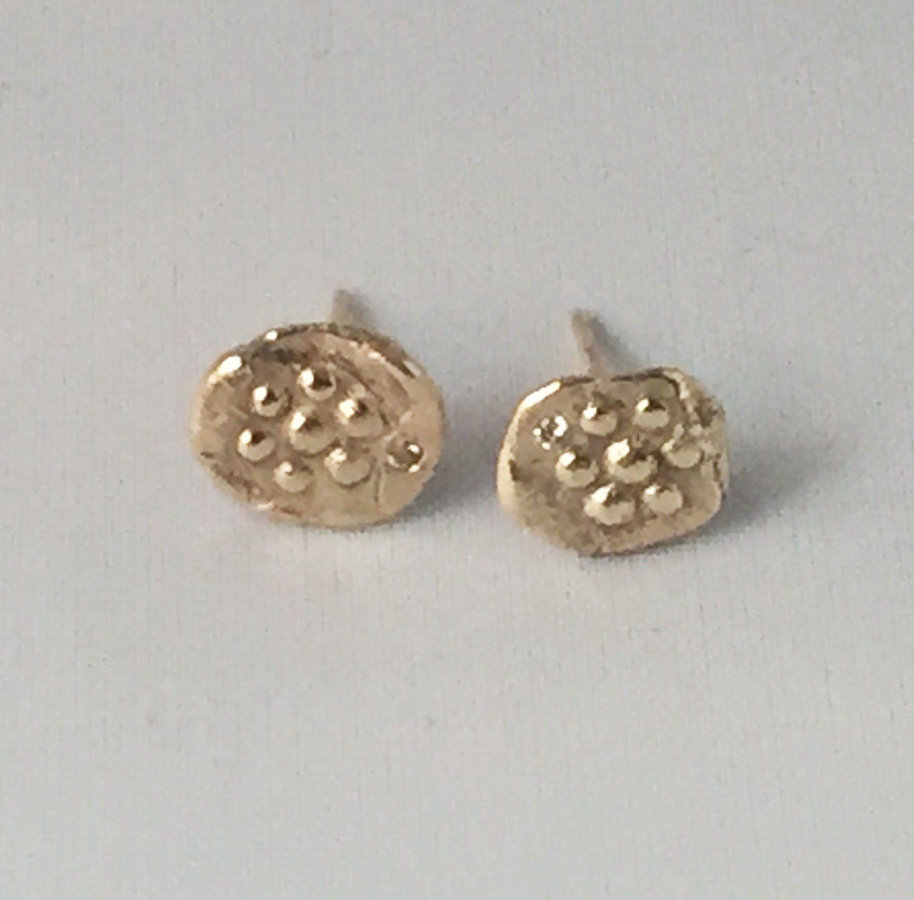 14k gold Ancient Collection stud earrings