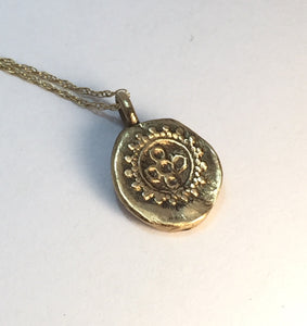 Tiny Gold charm necklace