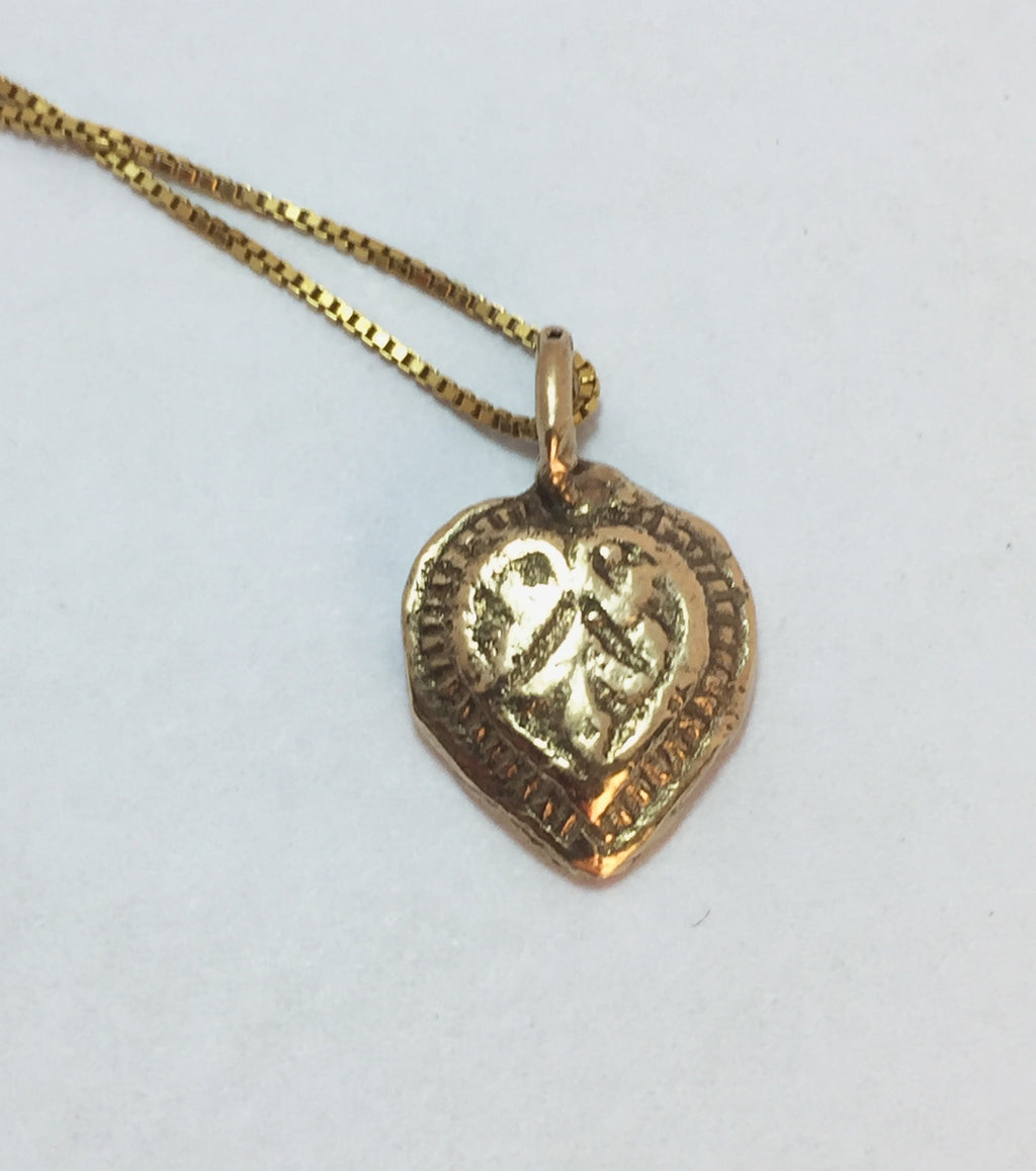 14k Gold little heart necklace