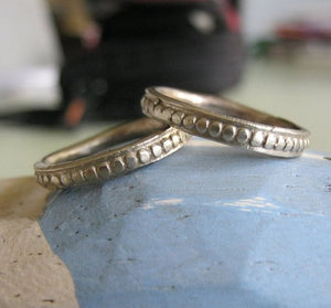 Ancient Patterned Band 14k