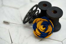 BUTTERCUP / ─ YELLOW & NAVY WOOL ─