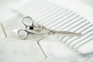 An image of the Dear Martian, Brooklyn silver scissor tie bar.