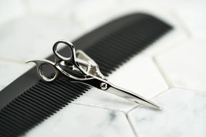 An image of the steel plated Dear Martian Fleet Street scissor tie clip