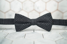 An image of the Grimaldi charcoal grey bow tie by Dear Martian, Brooklyn.