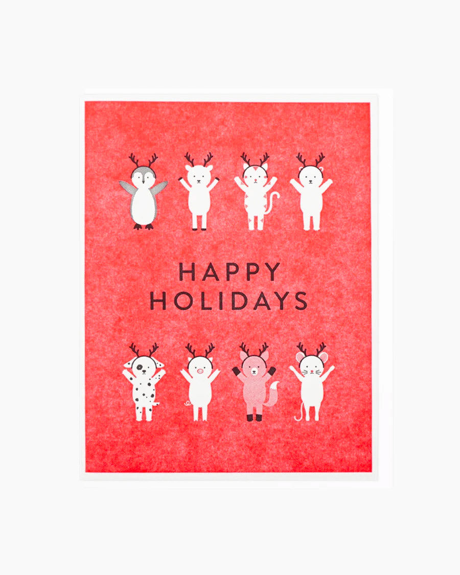 Happy Holidays Antler Friends