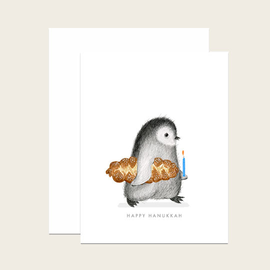 Penguin with Challah Bread