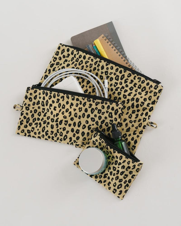 Flat Pouch Set - Honey Leopard