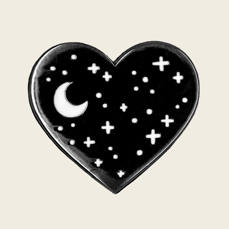 Heart Night Sky Pin