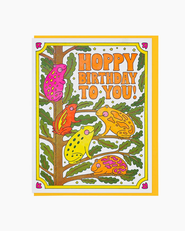 Hoppy Birthday To You Frogs