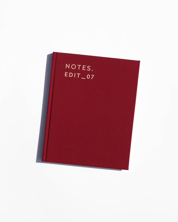 Notes Edit_07 Journal -Burgundy