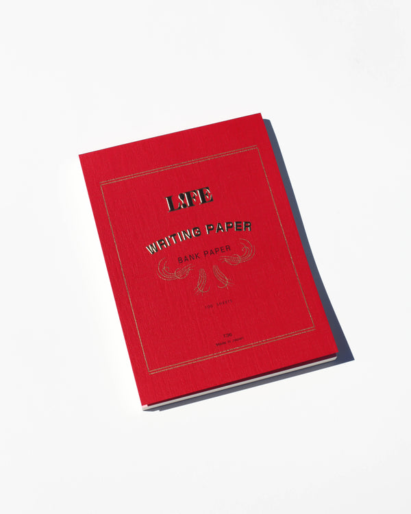 Life Bank Paper Pad - Red Cover