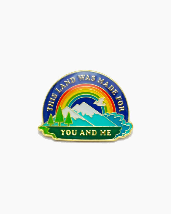 This Land Is Your Land Enamel Pin