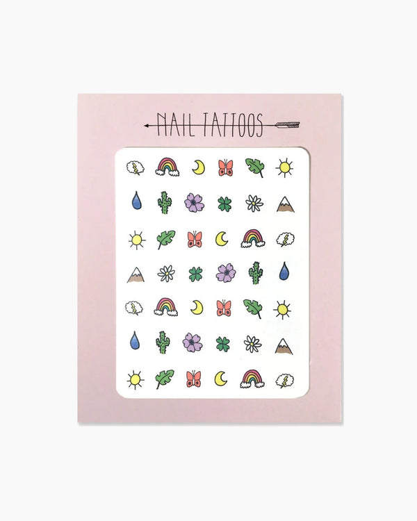 Great Outdoors Nail Tattoos