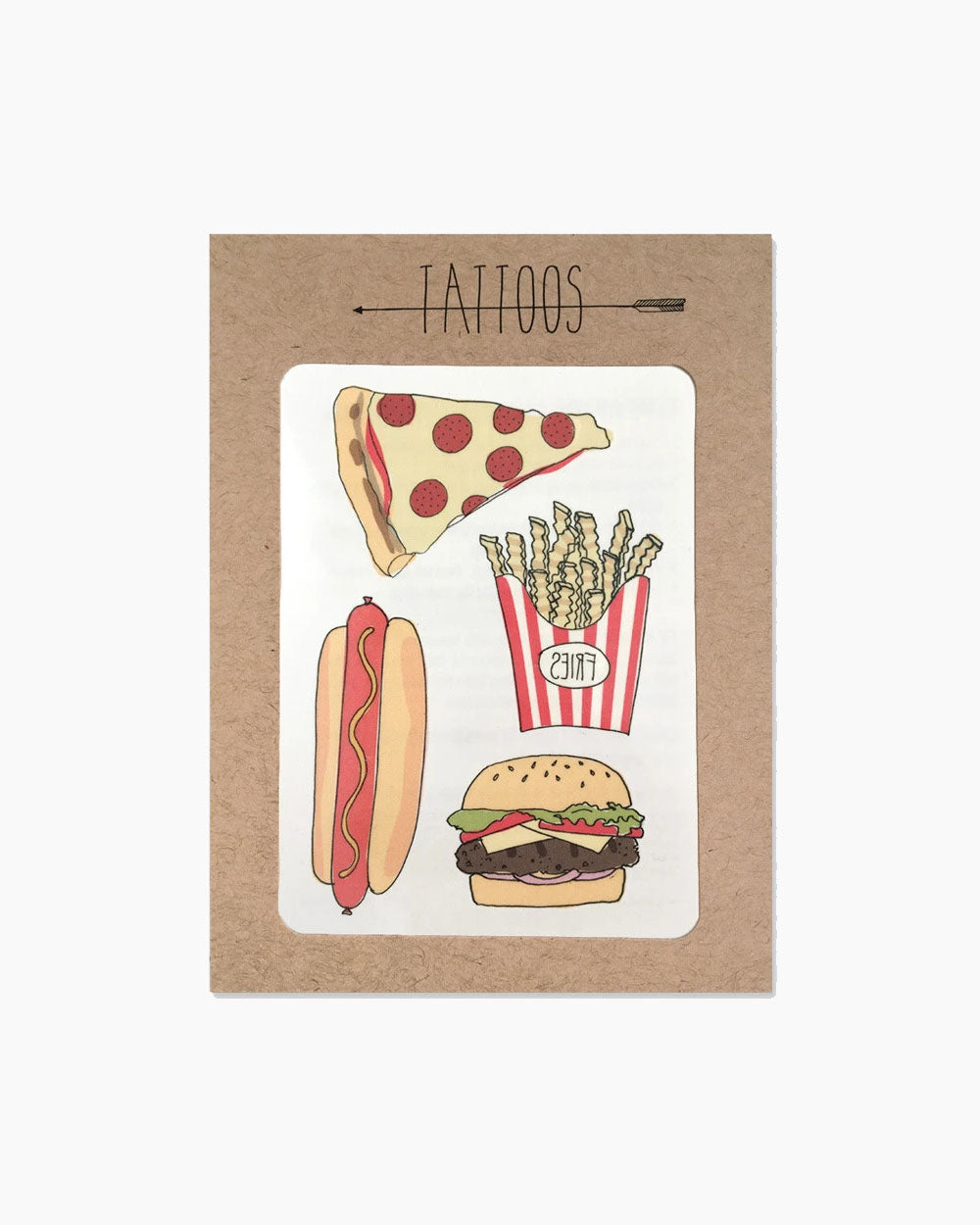 Pizza Temporary Tattoos