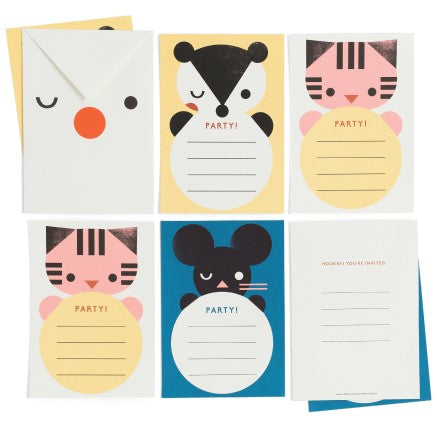 Party Invite Cards - Set of 6