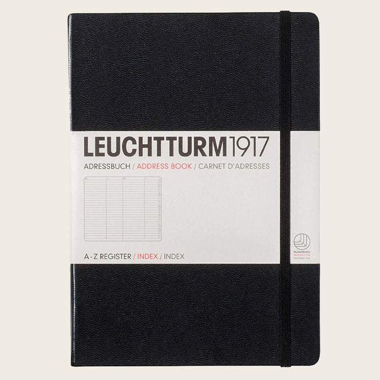 Leuchtturm1917 Address Book - Black