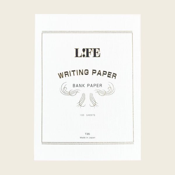 Life Bank Paper Pad - White Cover